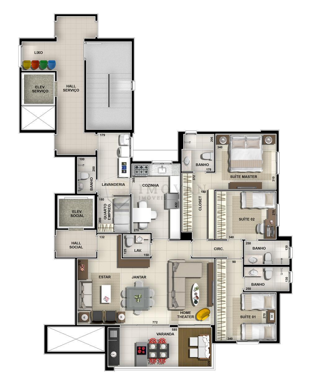 Comprar Apartamento / Padrão em Ribeirão Preto R$ 839.859,76 - Foto 3